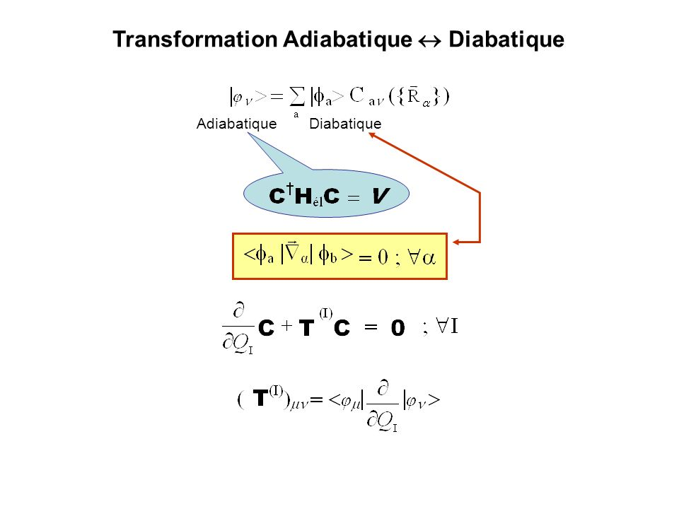 Transformation Adiabatique  Diabatique