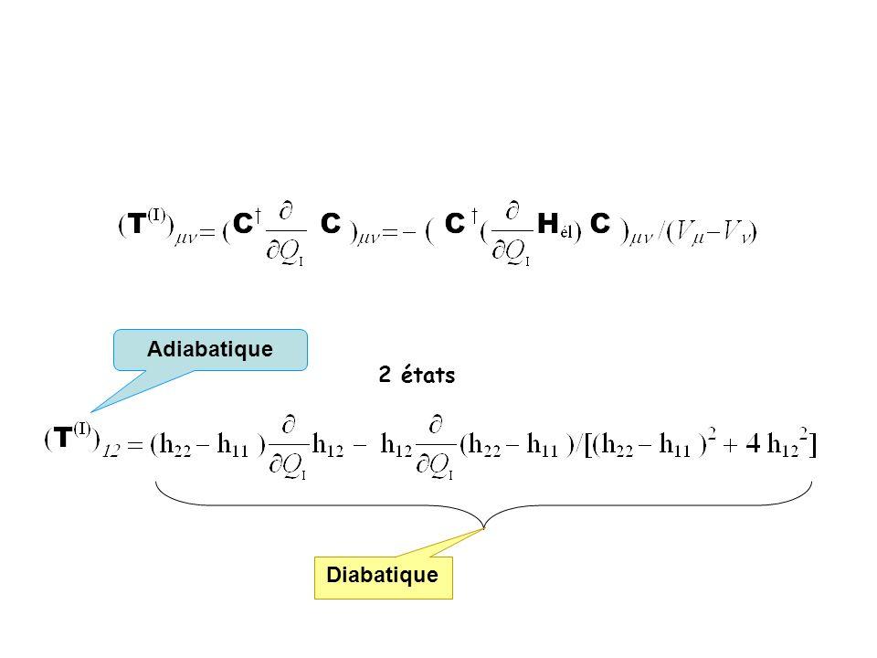 Adiabatique 2 états Diabatique