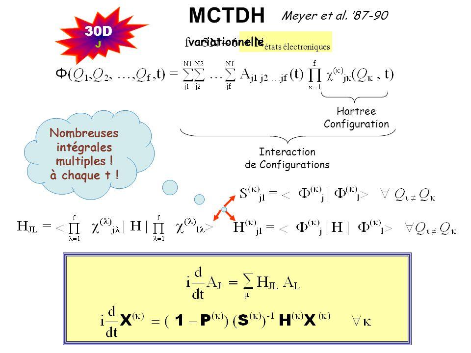 MCTDH 30D f = 3N – 6 + Nétats électroniques Meyer et al. '87-90