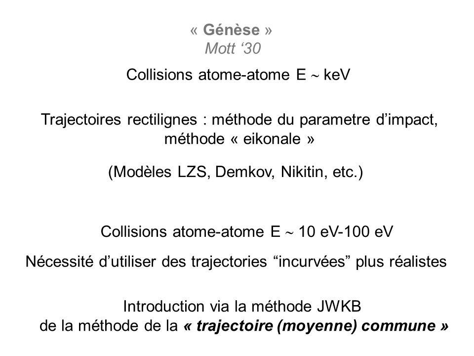 Collisions atome-atome E  keV
