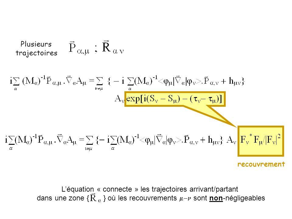 L'équation « connecte » les trajectoires arrivant/partant