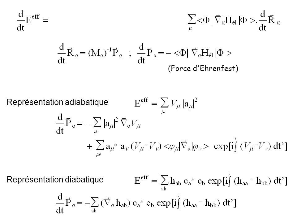 Représentation adiabatique