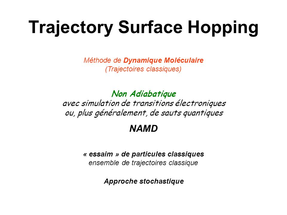 Trajectory Surface Hopping
