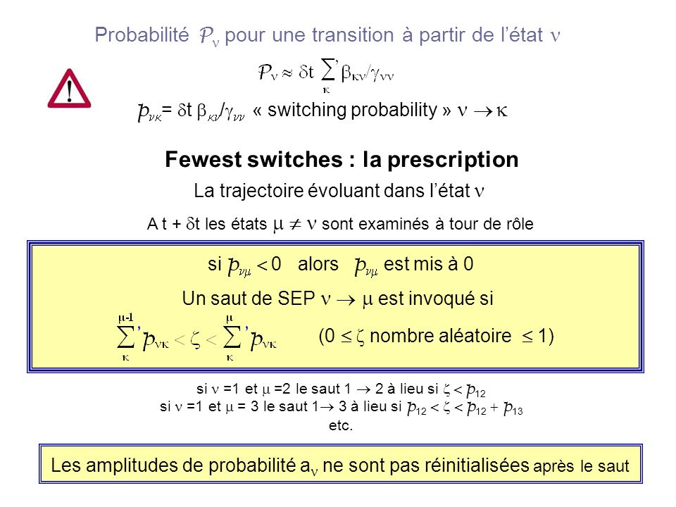 Fewest switches : la prescription