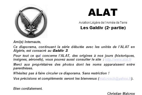 ALAT Aviation Légère de l'Armée de Terre Les Galdiv (2e partie)