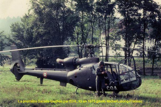 La première Gazelle touchée par l EHL, ici en 1975 (photo Michel Lelong-Fraisse).