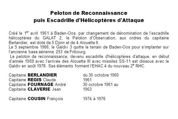 Peloton de Reconnaissance puis Escadrille d Hélicoptères d Attaque