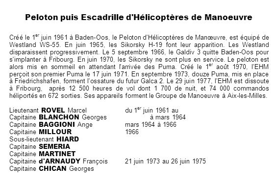 Peloton puis Escadrille d Hélicoptères de Manoeuvre