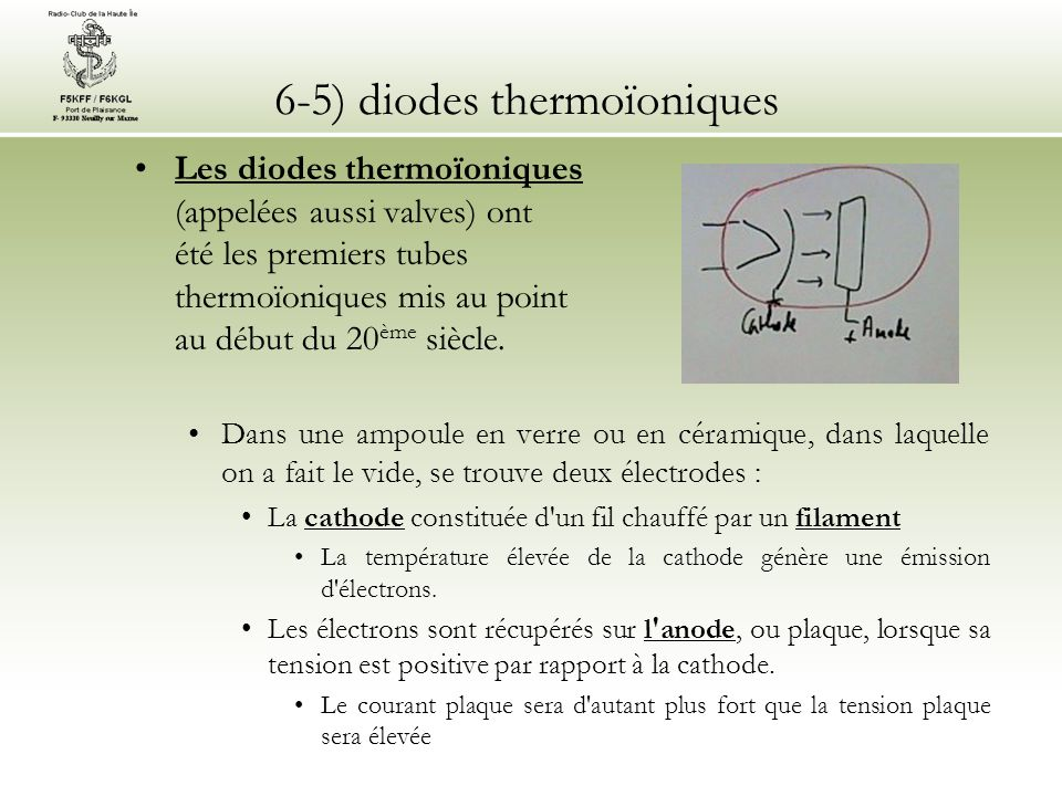 6-5) diodes thermoïoniques