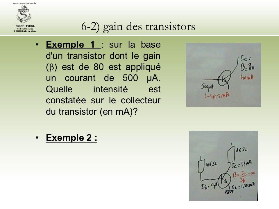 6-2) gain des transistors