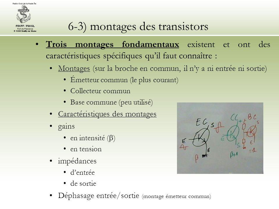 6-3) montages des transistors