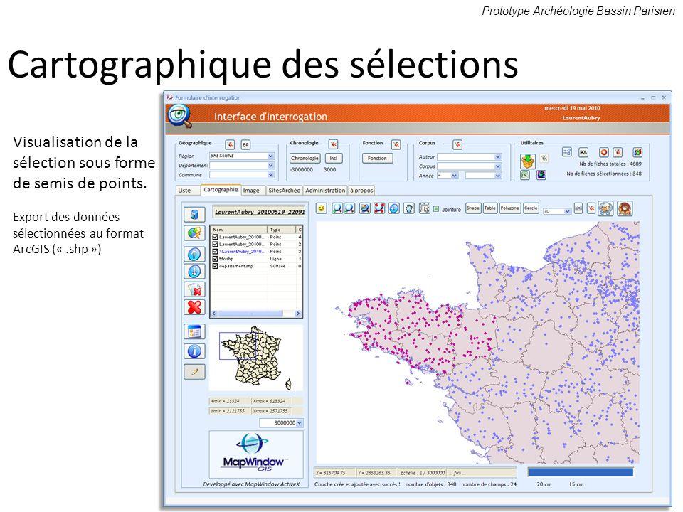 Cartographique des sélections