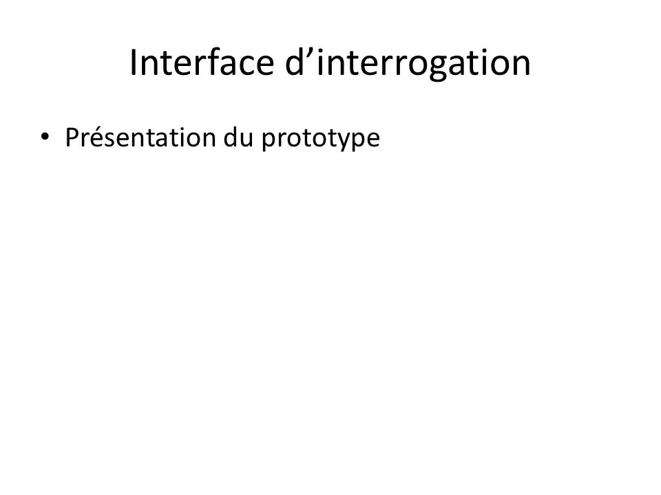Interface d'interrogation