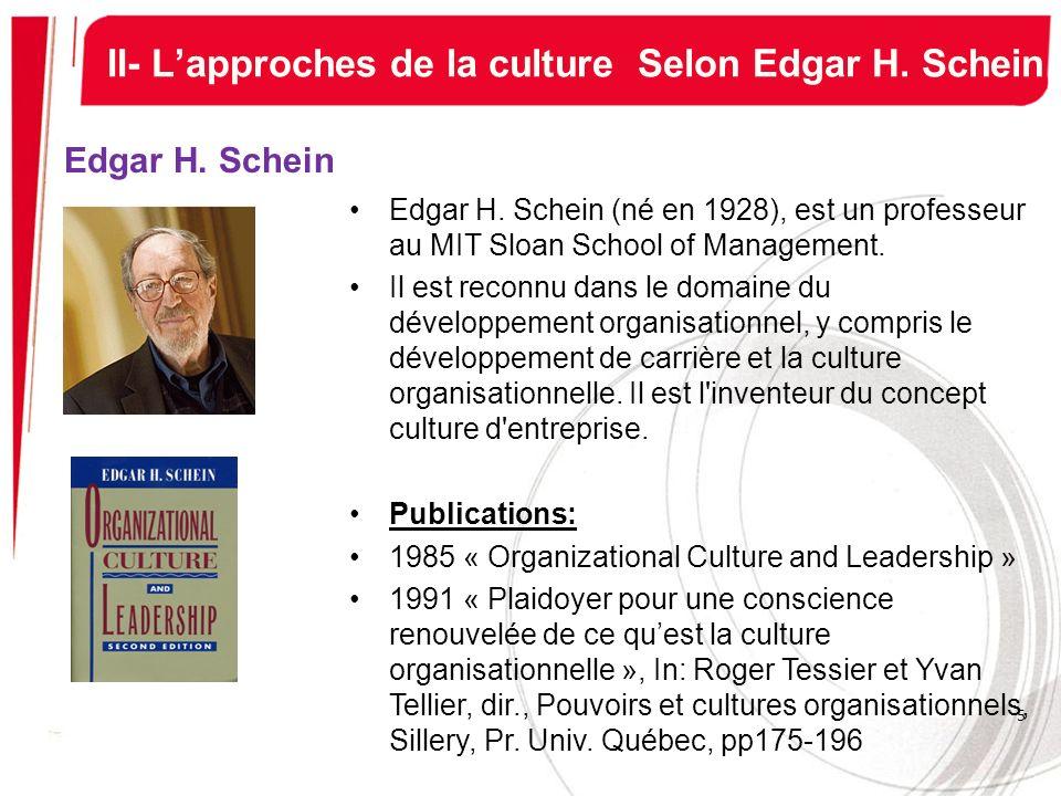 II- L'approches de la culture Selon Edgar H. Schein
