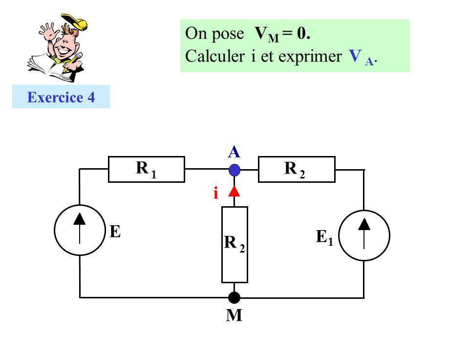Calculer i et exprimer V A.