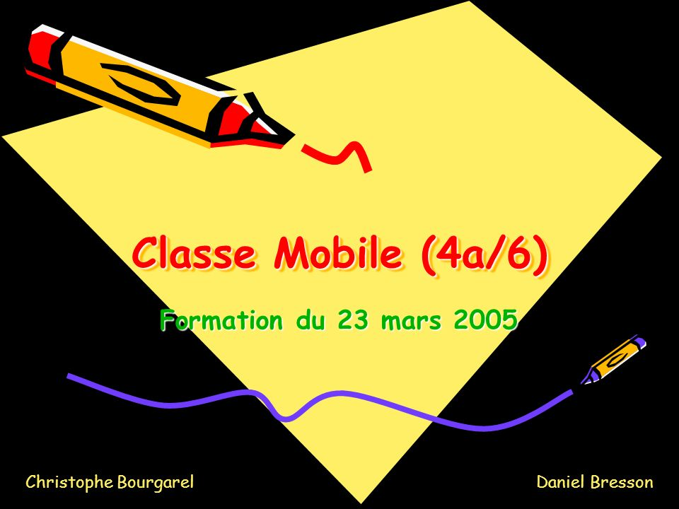 Classe Mobile (4a/6) Formation du 23 mars 2005 Christophe Bourgarel