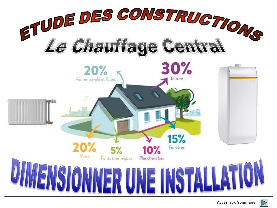 ETUDE DES CONSTRUCTIONS DIMENSIONNER UNE INSTALLATION