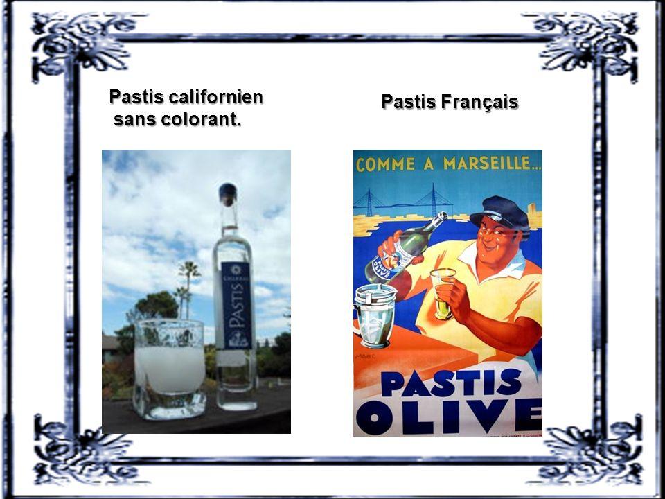 Pastis californien sans colorant. Pastis Français