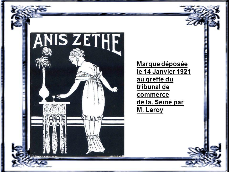 Marque déposée le 14 Janvier 1921 au greffe du tribunal de commerce