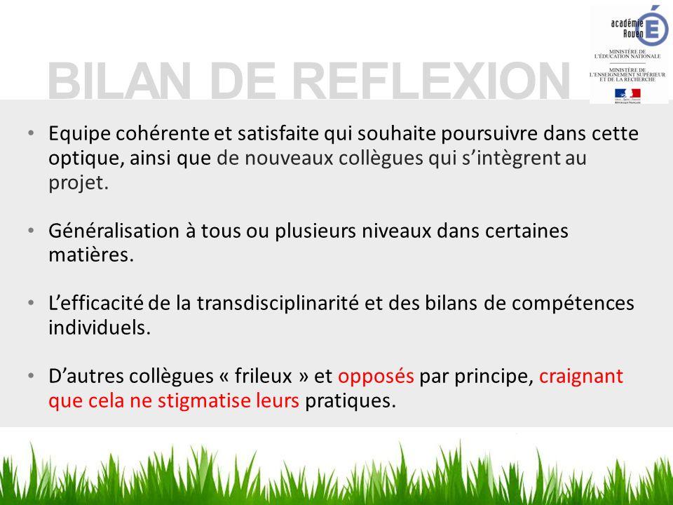 BILAN DE REFLEXION