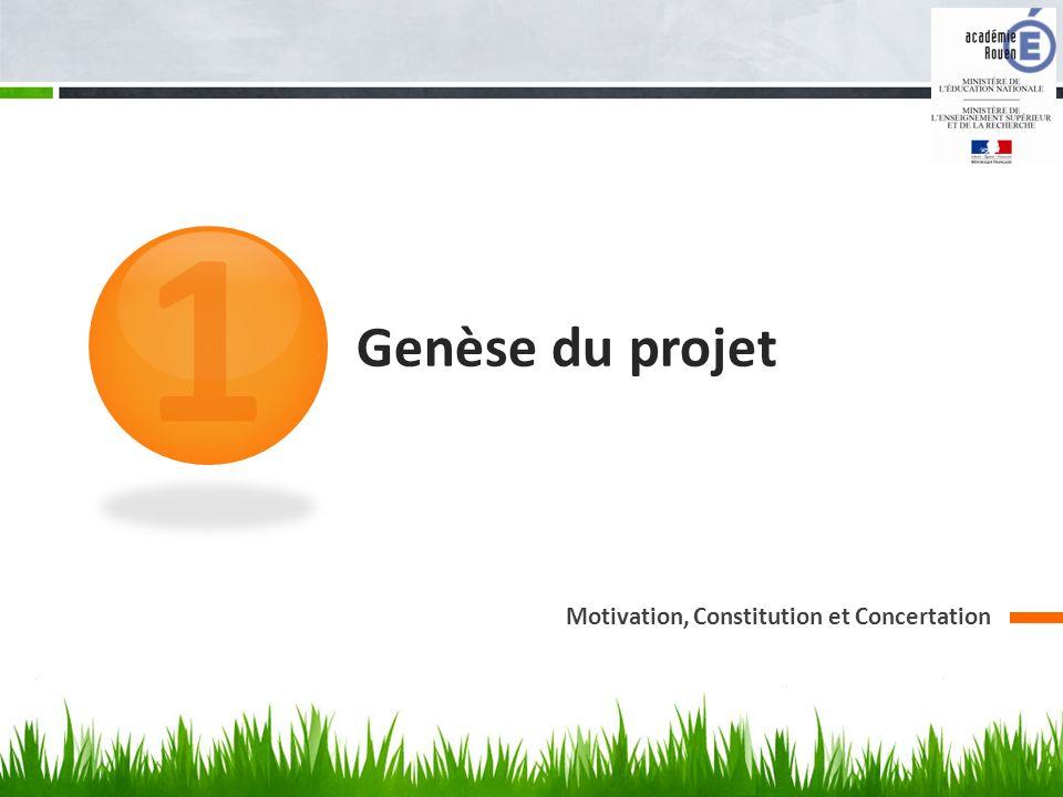 1 Genèse du projet Motivation, Constitution et Concertation