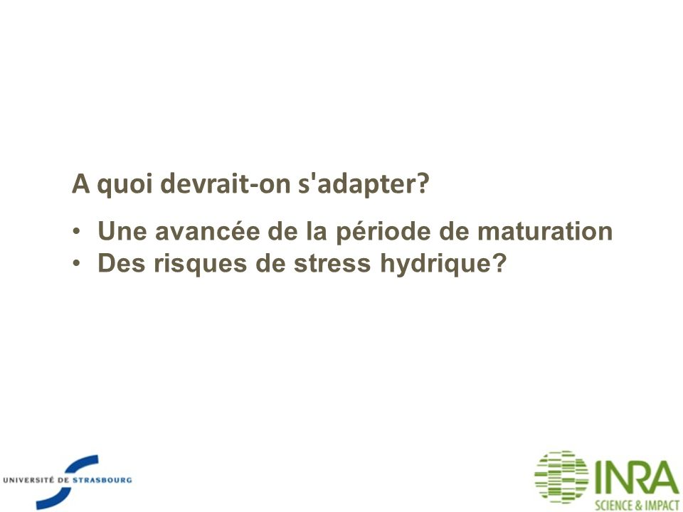 A quoi devrait-on s adapter