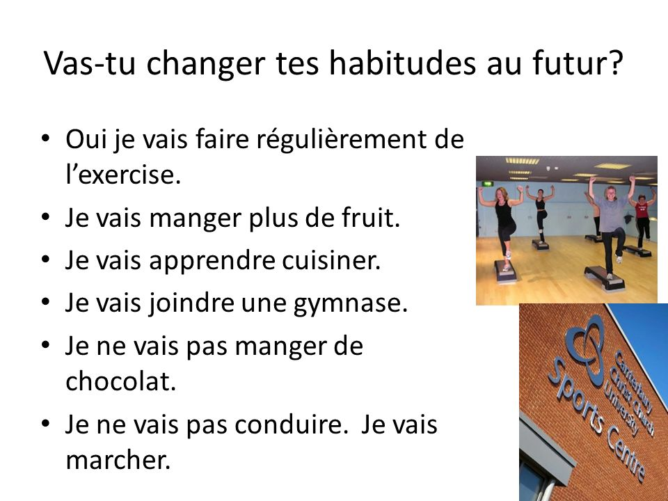 Vas-tu changer tes habitudes au futur