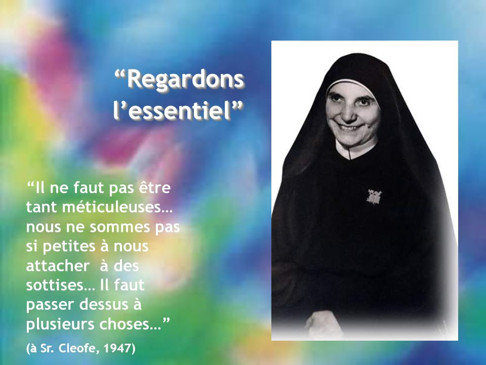Regardons l'essentiel