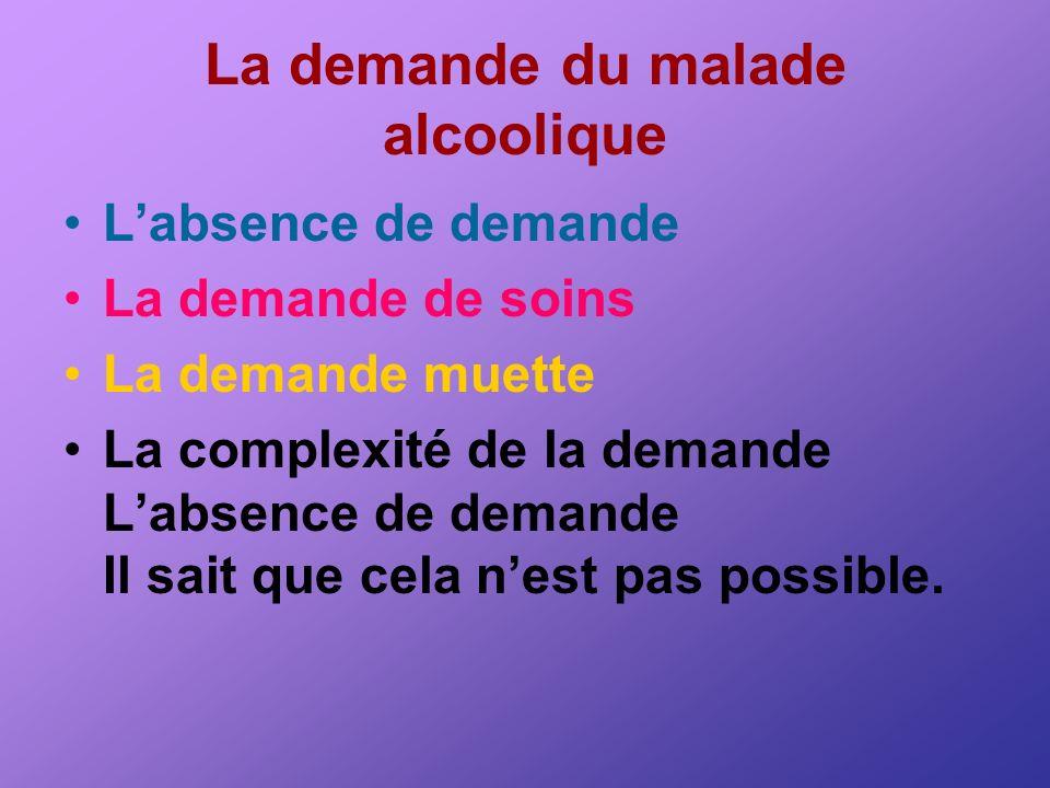 La demande du malade alcoolique