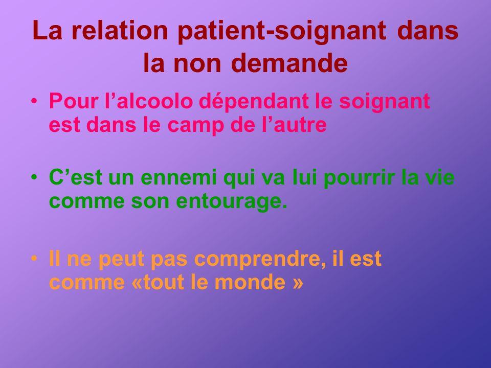 La relation patient-soignant dans la non demande
