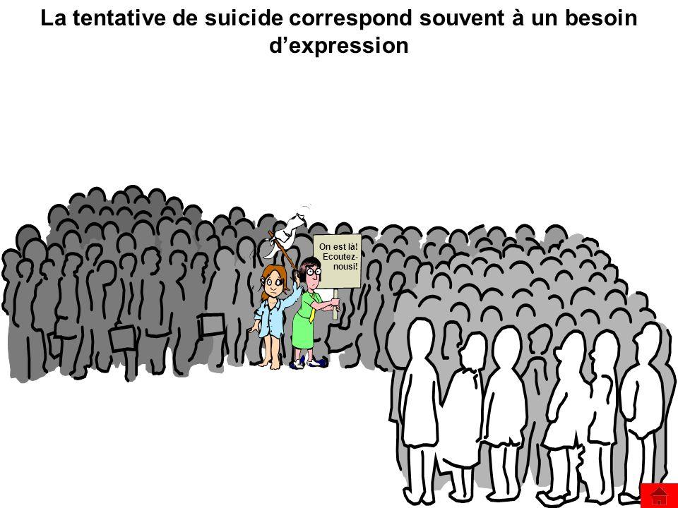 La tentative de suicide correspond souvent à un besoin d'expression