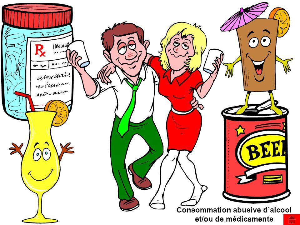Consommation abusive d'alcool et/ou de médicaments
