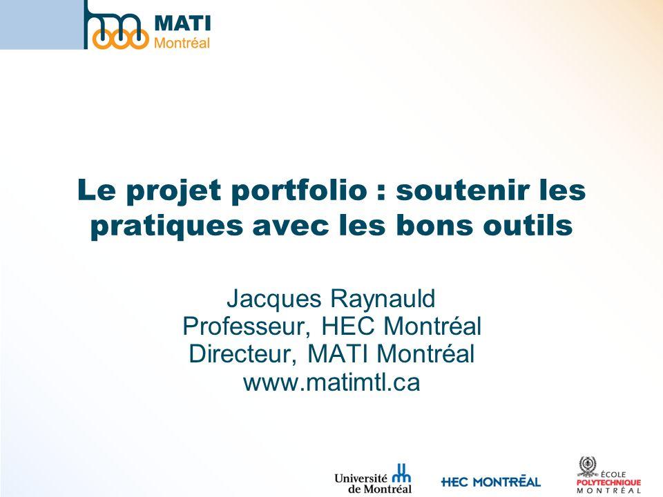 Le projet portfolio : soutenir les pratiques avec les bons outils