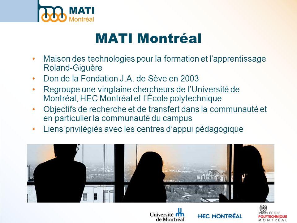 MATI Montréal Maison des technologies pour la formation et l'apprentissage Roland-Giguère. Don de la Fondation J.A. de Sève en 2003.