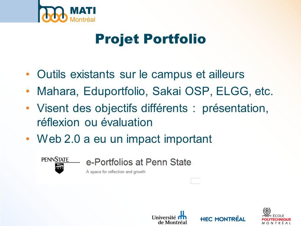 Projet Portfolio Outils existants sur le campus et ailleurs