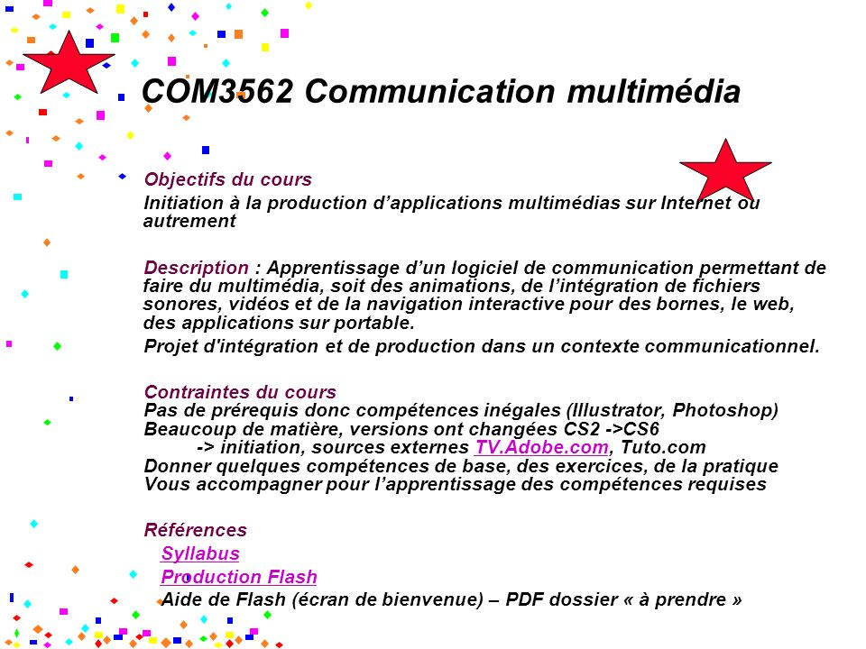 COM3562 Communication multimédia