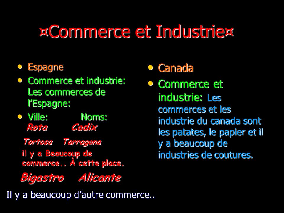 ¤Commerce et Industrie¤