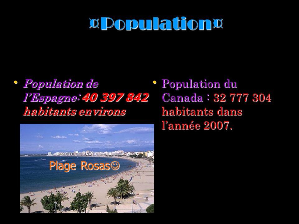 ¤Population¤ Population de l'Espagne: 40 397 842 habitants environs