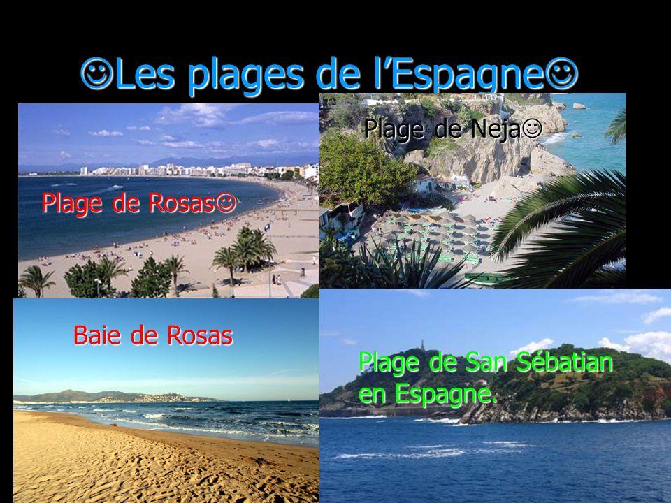 Les plages de l'Espagne