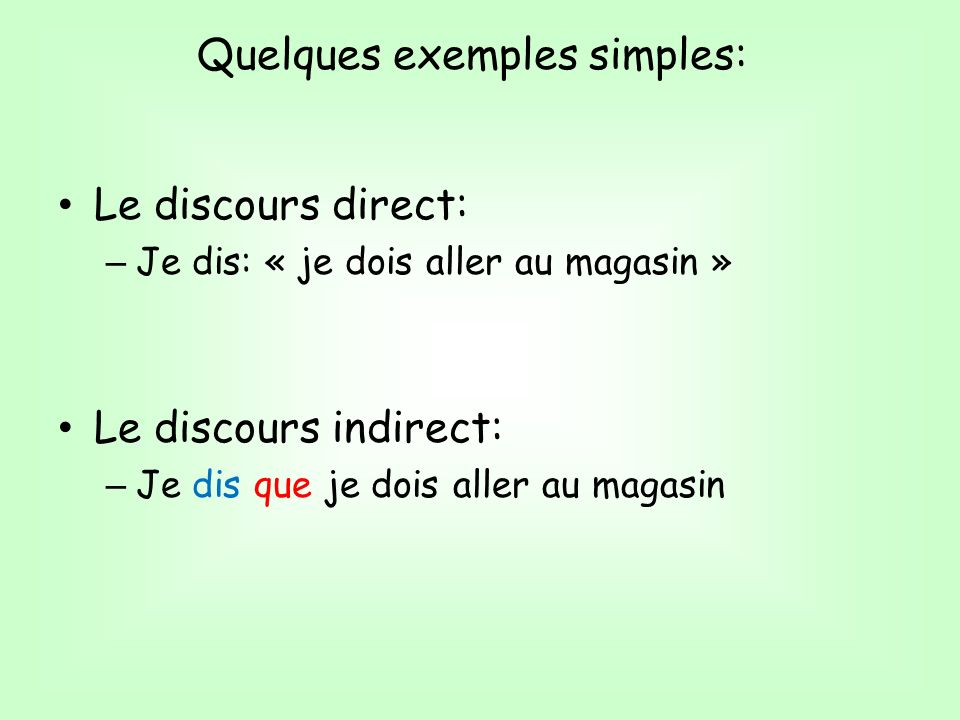 Quelques exemples simples: