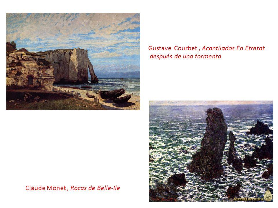 Gustave Courbet , Acantilados En Etretat