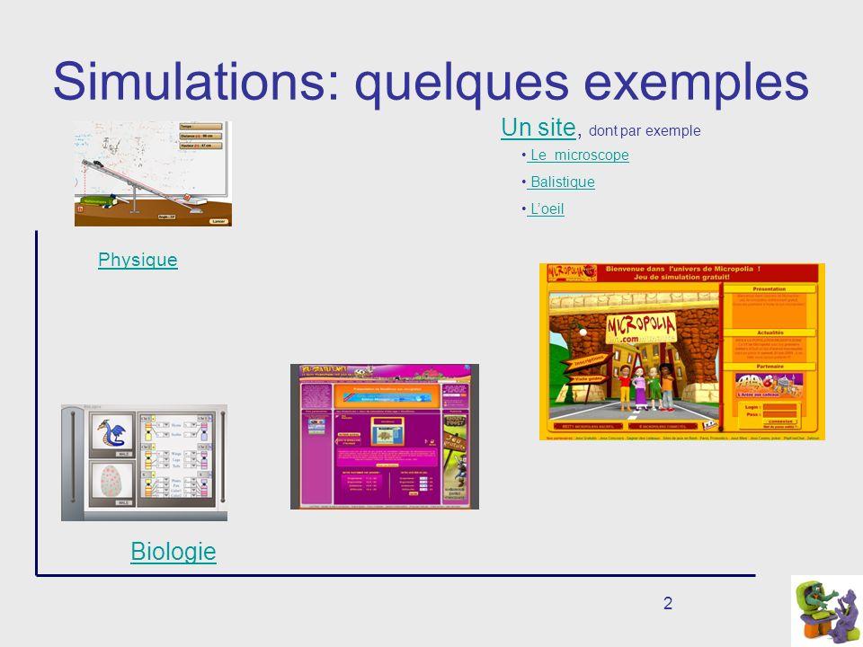 Simulations: quelques exemples