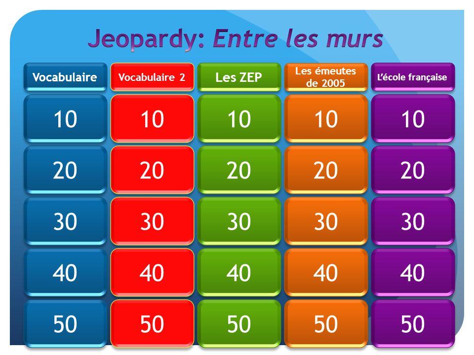 Jeopardy: Entre les murs