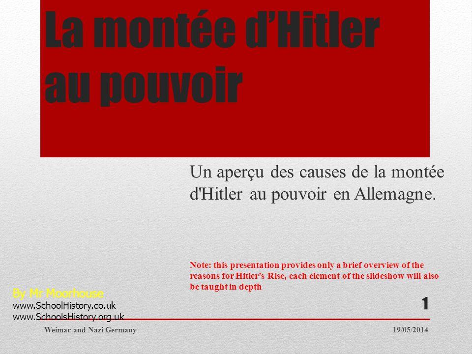 La montée d'Hitler au pouvoir