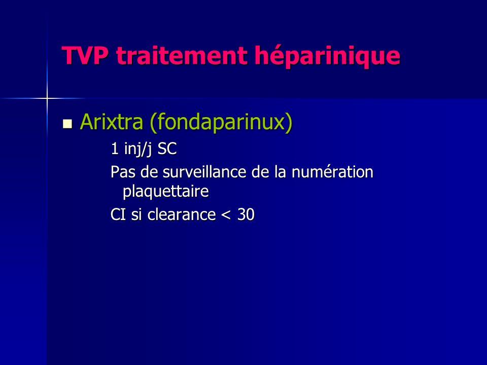 TVP traitement héparinique