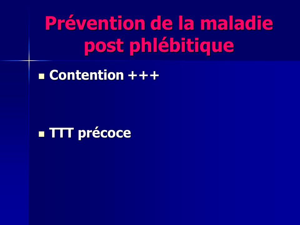 Prévention de la maladie post phlébitique