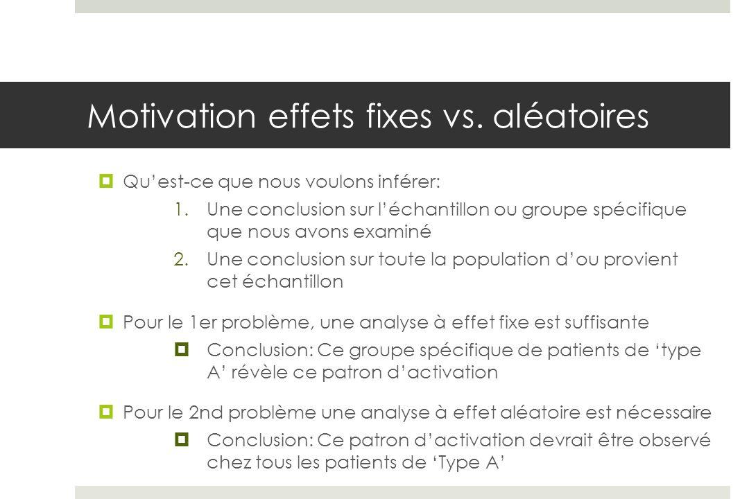 Motivation effets fixes vs. aléatoires