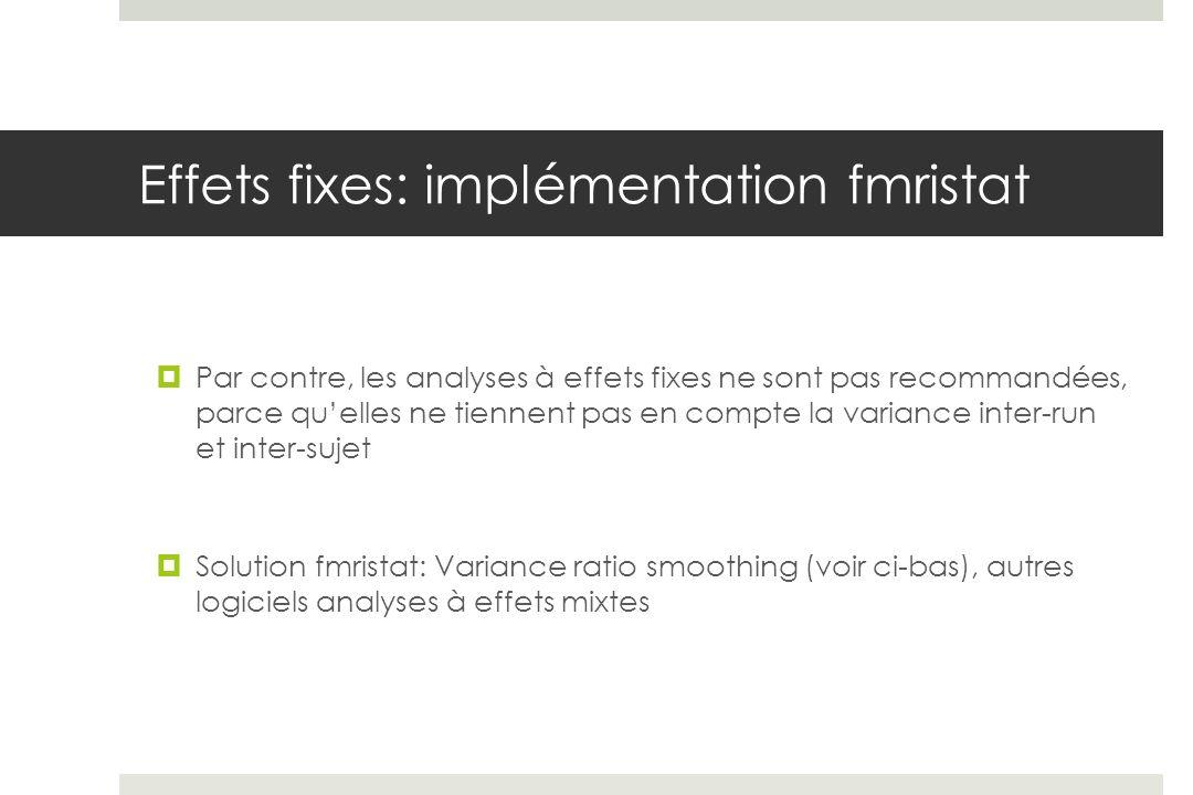 Effets fixes: implémentation fmristat