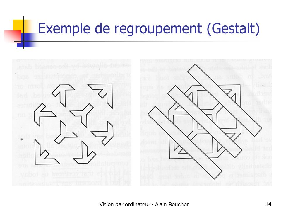 Exemple de regroupement (Gestalt)