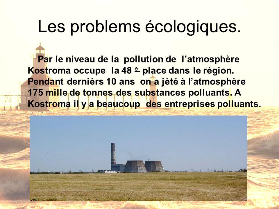 Les problems écologiques.